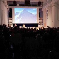 """(da sx): Martino Colonna e Markus Eder, per la presentazione del film """"Alptopia"""" in anteprima mondiale"""