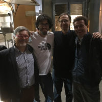 (a sx): Luca Calvi, Hansjorg Auer, Francesco Bertolini e Marco Bramani