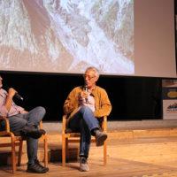 """(da sx): Luca Calvi e Paolo Paci, durante la presentazione del libro """"4810 Monte Bianco"""""""