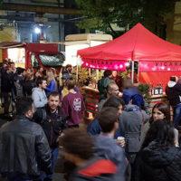 Vista sul cortile durante il Milano Montagna Festival & Fuori Festival 2018 - BASE Milano