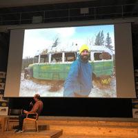"""Frank Lotta (a sx) durante la presentazione del libro """"Ritorno alle terre selvagge"""""""