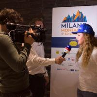 Michela Moioli durante l'intervista di SkySport.