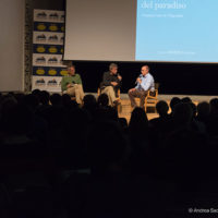 (da sx): Alberto Paleari, Marco Albino Ferrari e Massimo Bocci durante la serata per il 25° Anniversario del Parco della Valgrande.