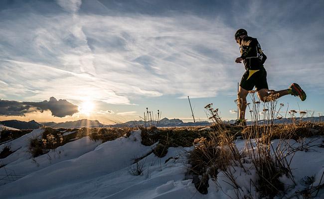 Marco Zanchi lungo un trail di Orobie d'un Fiato